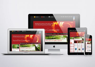 Sacred Fire Organisation web development