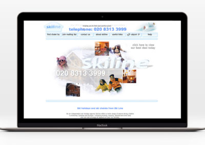 Skiline ski holidays website development